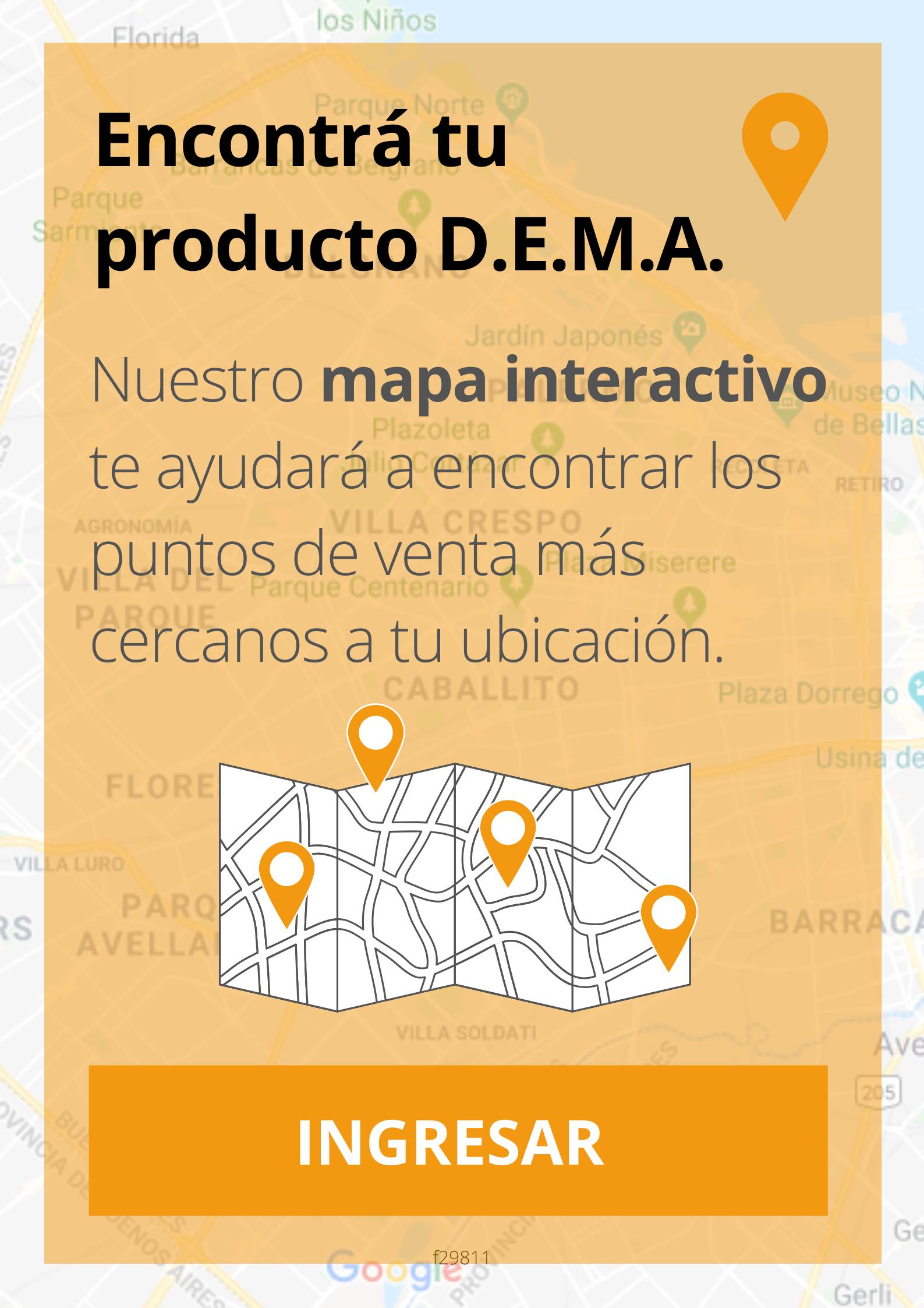 Mapa productos D.E.M.A.